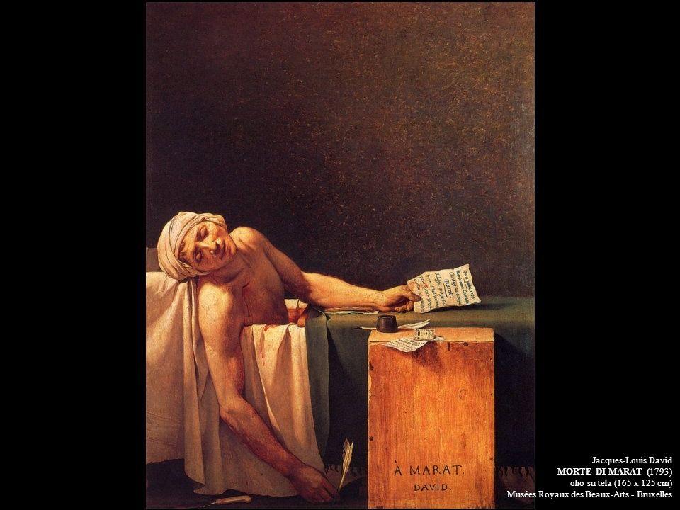 Jacques-Louis DavidMORTE DI MARAT (1793) olio su tela (165 x 125 cm) Musées Royaux des Beaux-Arts - Bruxelles.