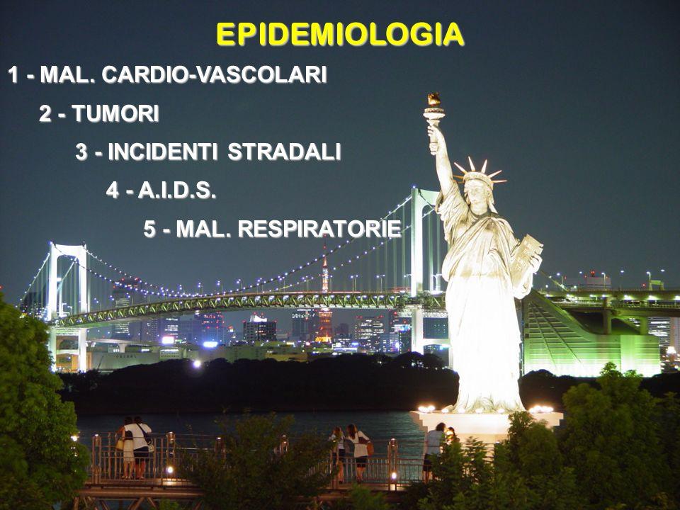 EPIDEMIOLOGIA 1 - MAL. CARDIO-VASCOLARI 2 - TUMORI