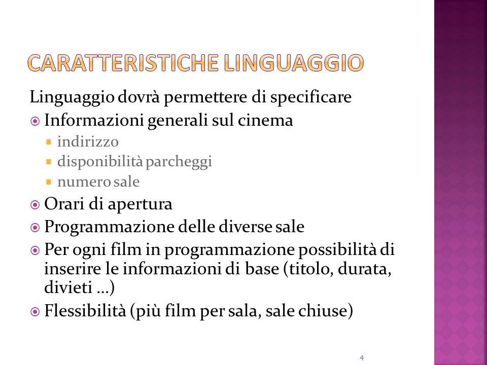 Caratteristiche linguaggio