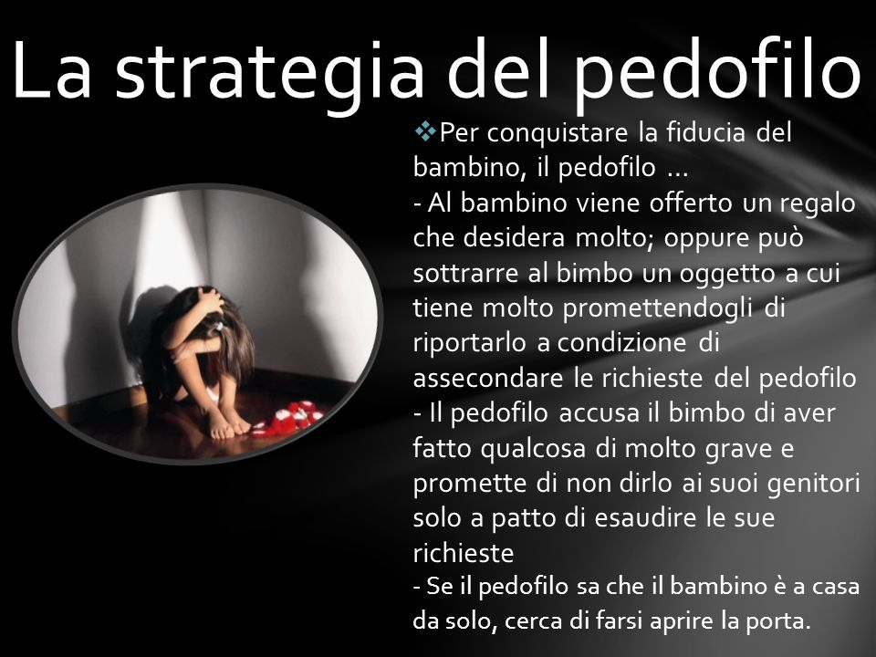 La strategia del pedofilo