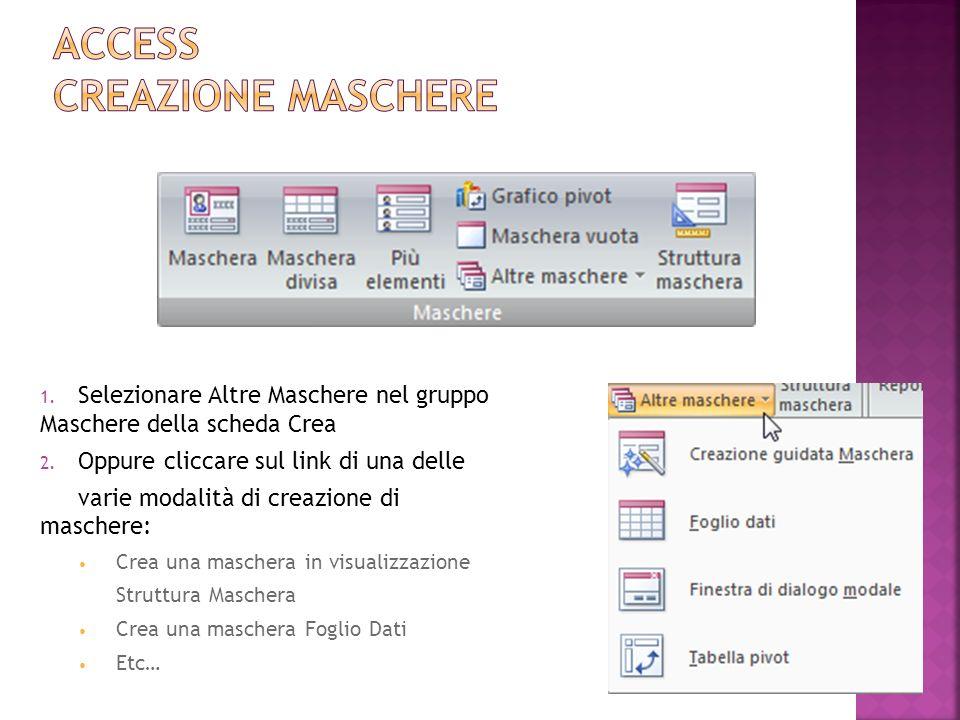 Access Creazione Maschere