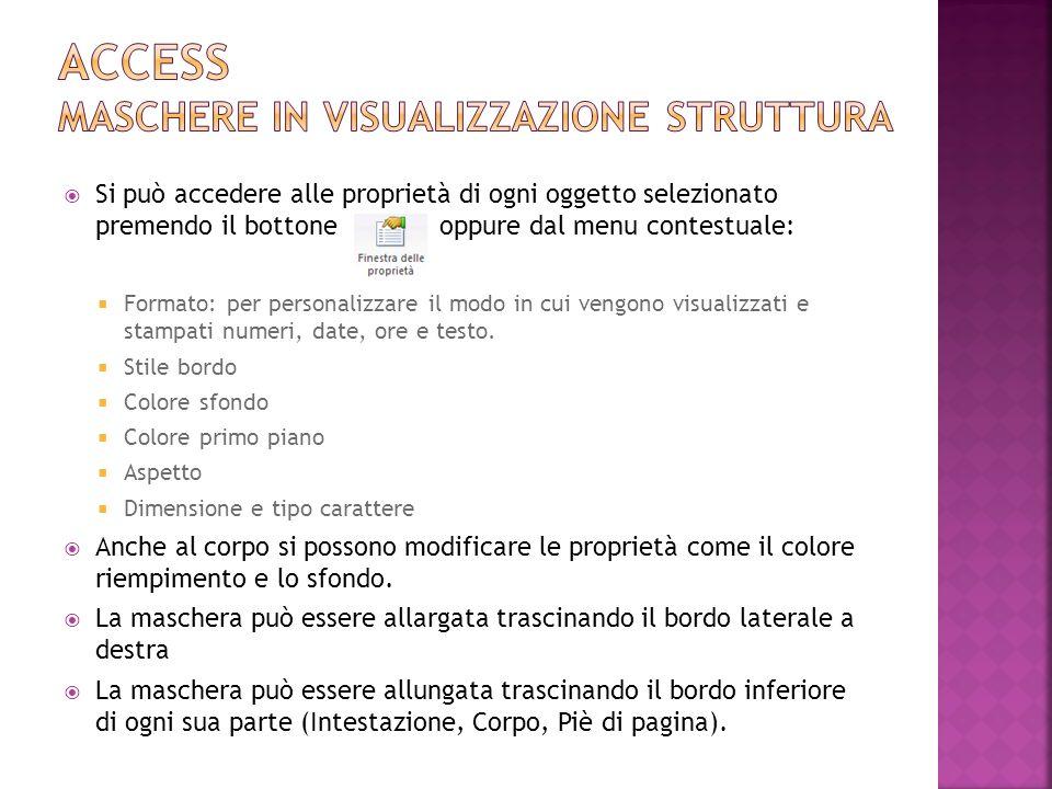 Access maschere in visualizzazione struttura