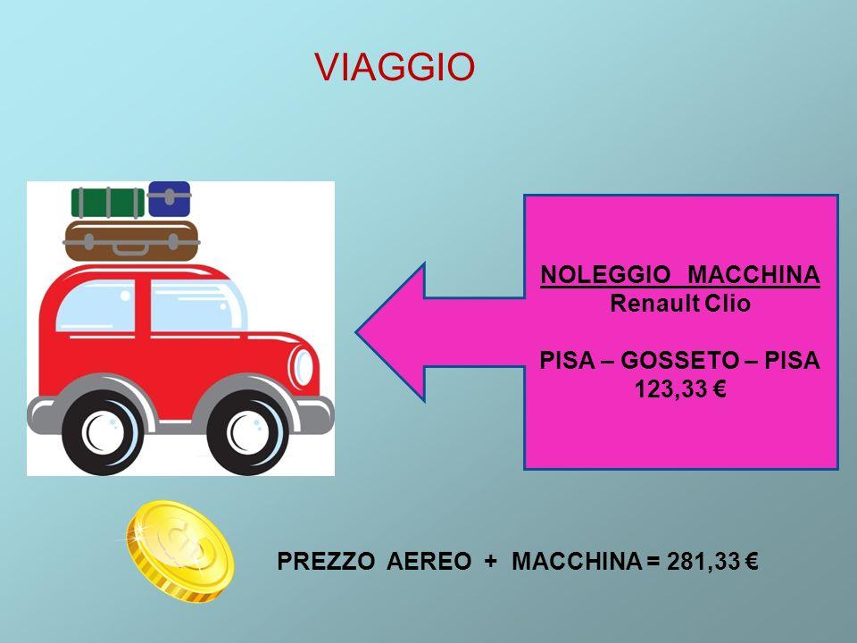 VIAGGIO NOLEGGIO MACCHINA Renault Clio PISA – GOSSETO – PISA 123,33 €