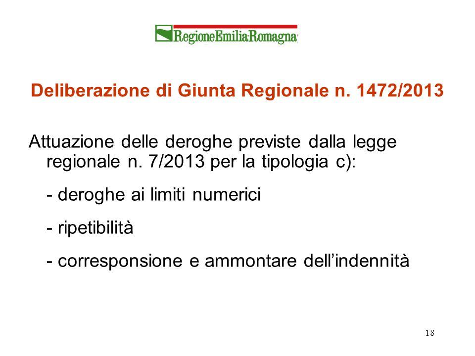 Deliberazione di Giunta Regionale n. 1472/2013