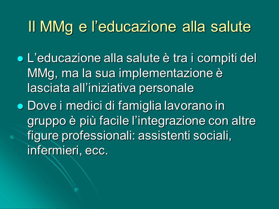Il MMg e l'educazione alla salute