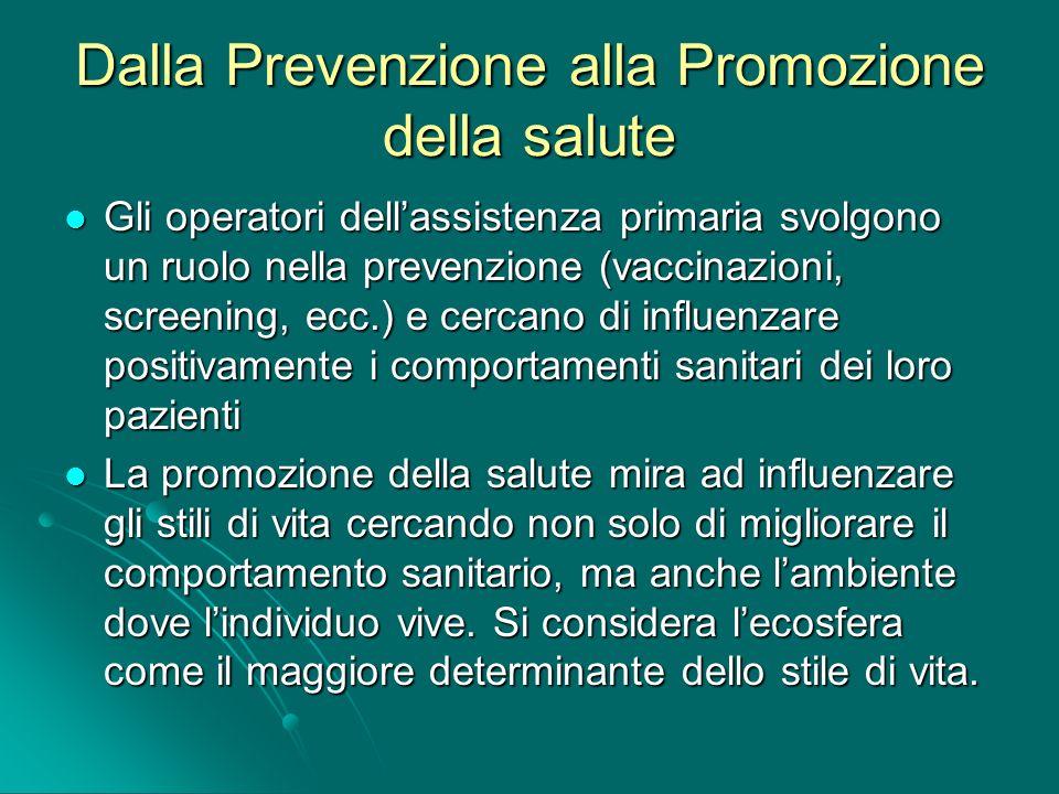 Dalla Prevenzione alla Promozione della salute