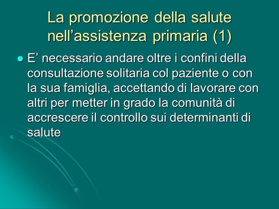 La promozione della salute nell'assistenza primaria (1)