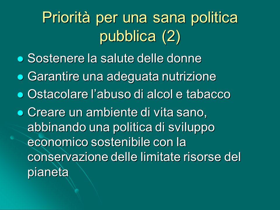 Priorità per una sana politica pubblica (2)