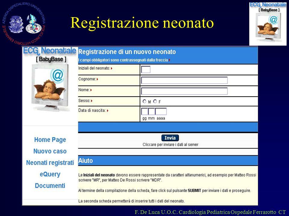 Registrazione neonato