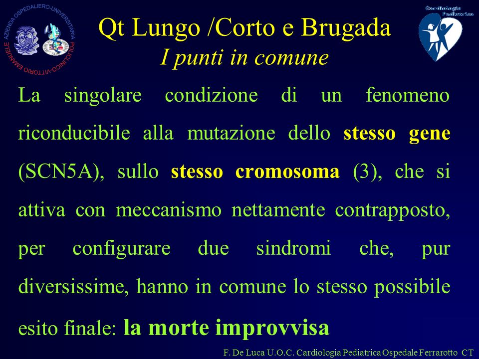 Qt Lungo /Corto e Brugada I punti in comune