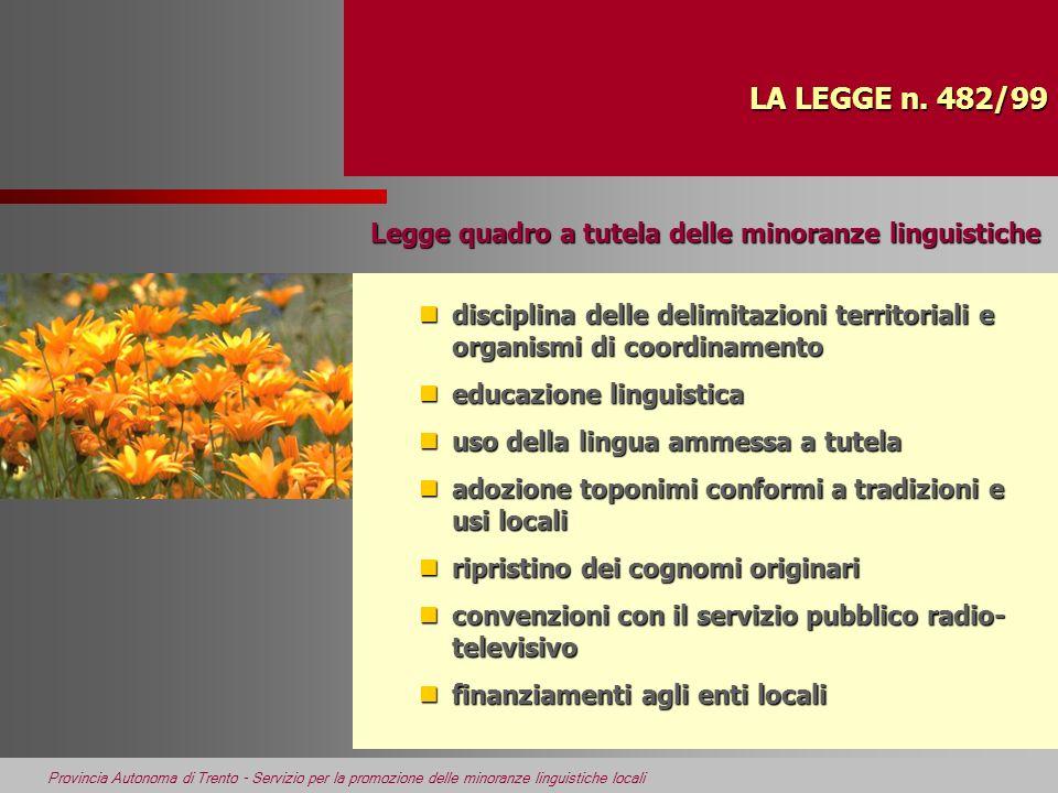 Legge quadro a tutela delle minoranze linguistiche