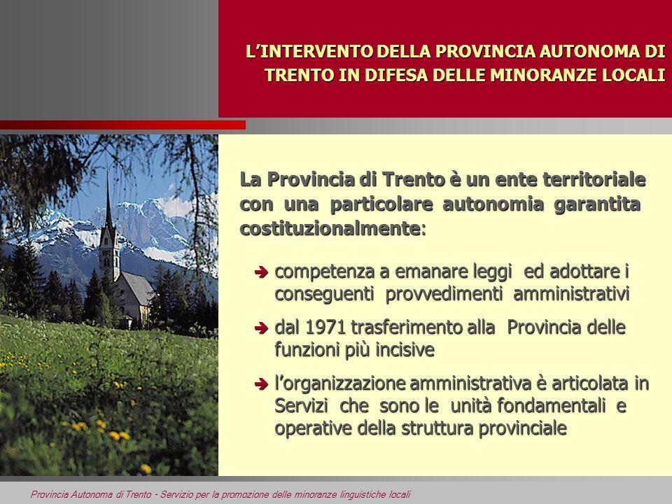 dal 1971 trasferimento alla Provincia delle funzioni più incisive