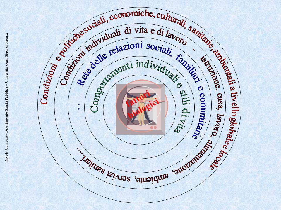 Condizioni e politiche sociali, economiche, culturali, sanitarie, ambientali a livello globale e locale