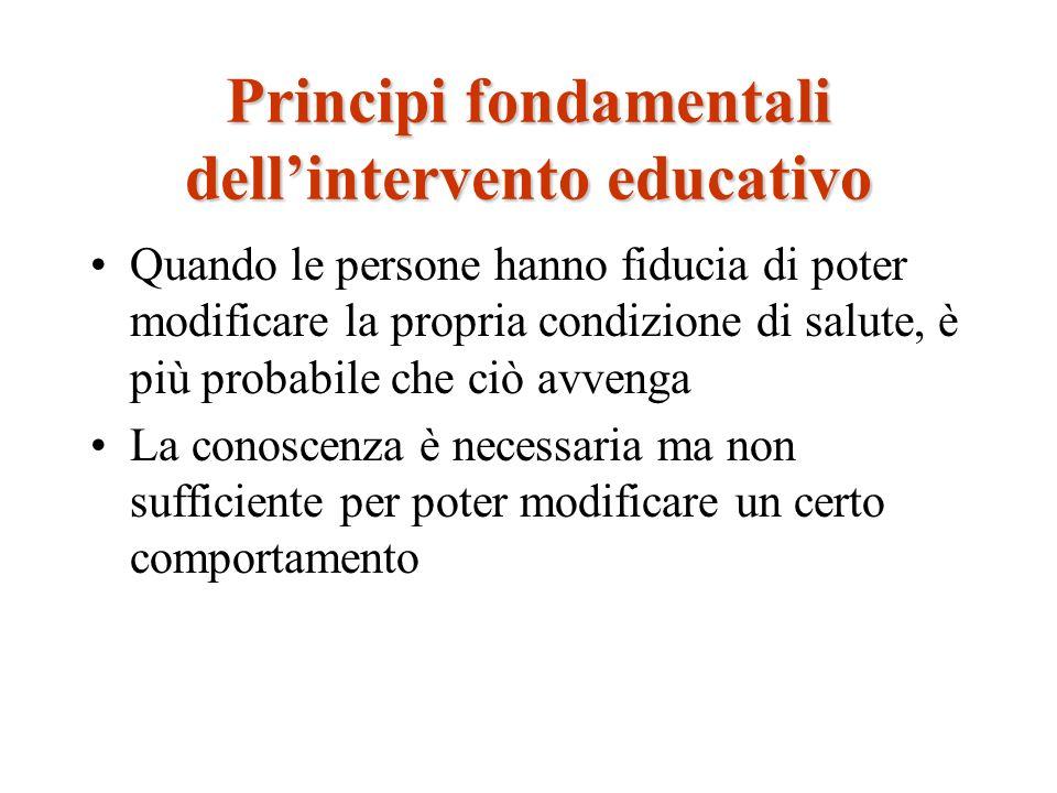Principi fondamentali dell'intervento educativo