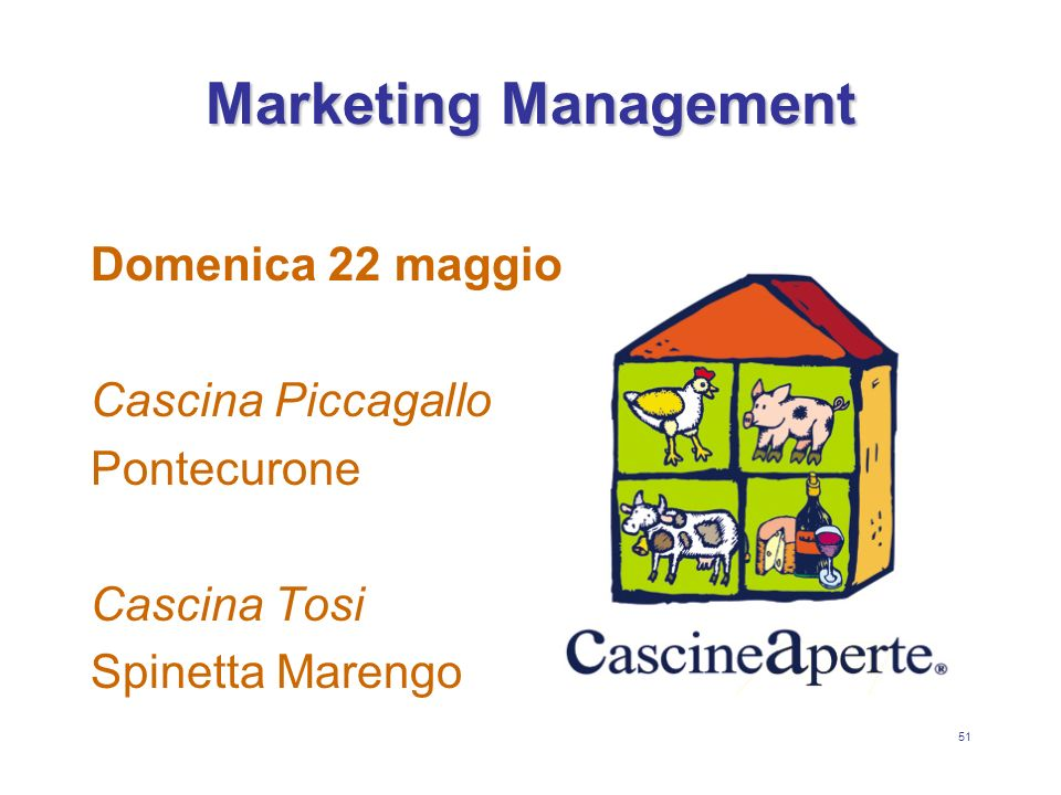 Marketing Management Domenica 22 maggio Cascina Piccagallo Pontecurone