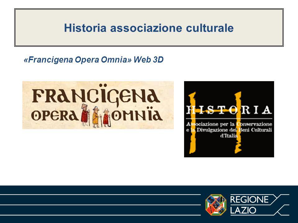 Historia associazione culturale