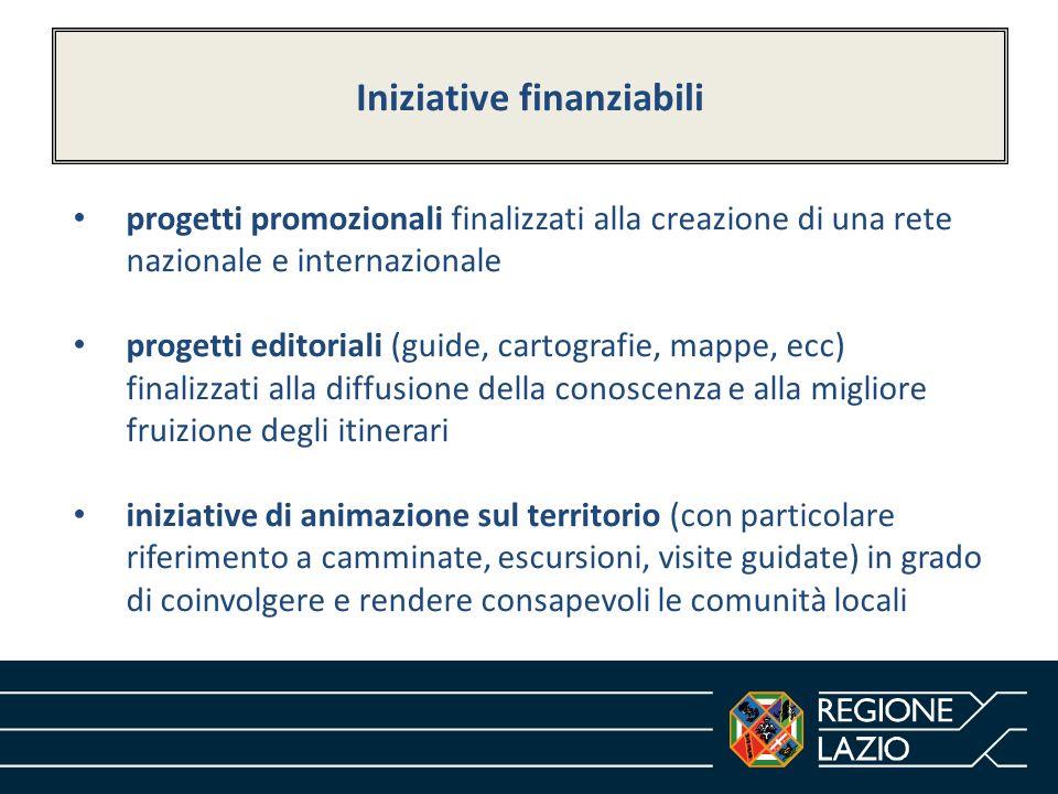 Iniziative finanziabili