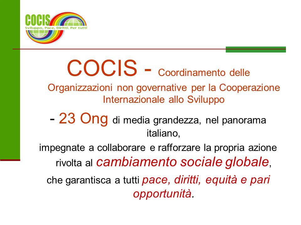COCIS - Coordinamento delle Organizzazioni non governative per la Cooperazione Internazionale allo Sviluppo