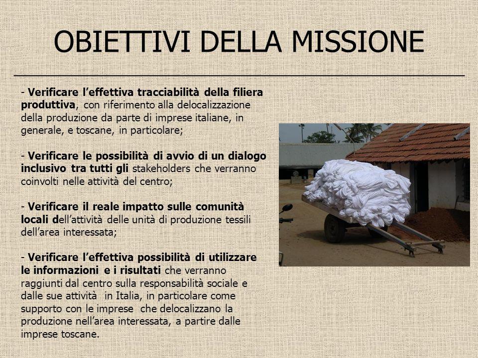 OBIETTIVI DELLA MISSIONE