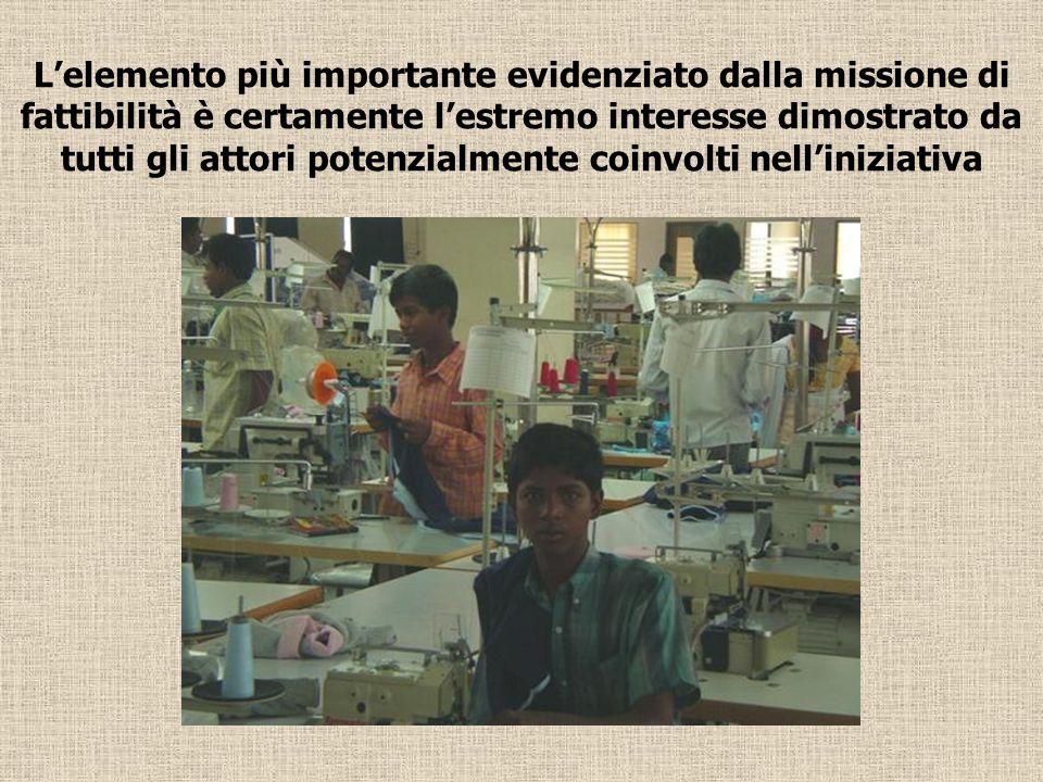 L'elemento più importante evidenziato dalla missione di fattibilità è certamente l'estremo interesse dimostrato da tutti gli attori potenzialmente coinvolti nell'iniziativa