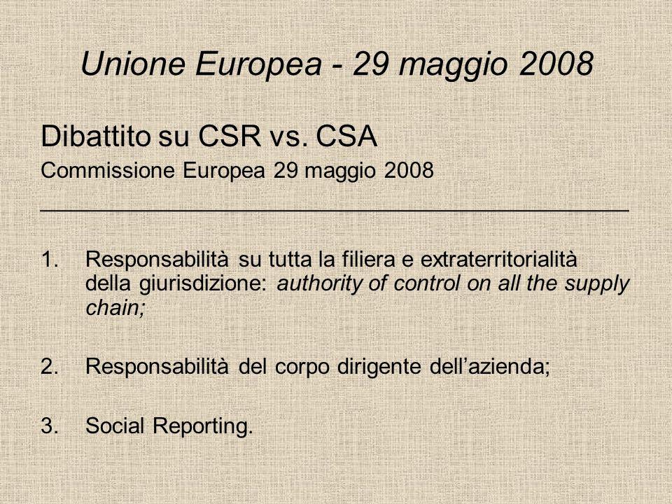 Unione Europea - 29 maggio 2008
