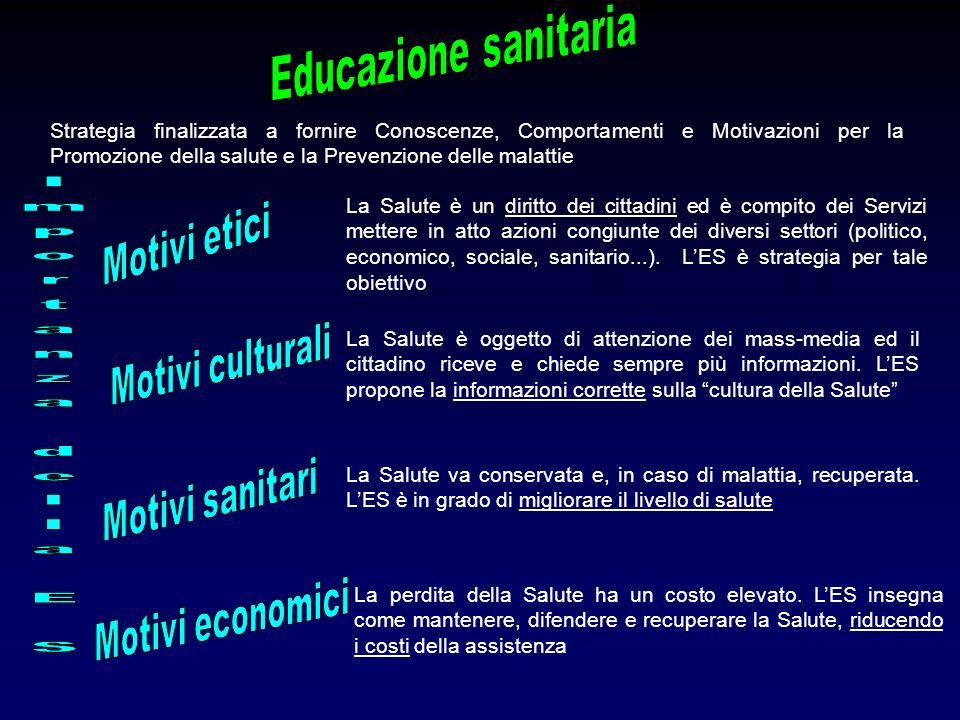 Importanza della E S Educazione sanitaria Motivi etici