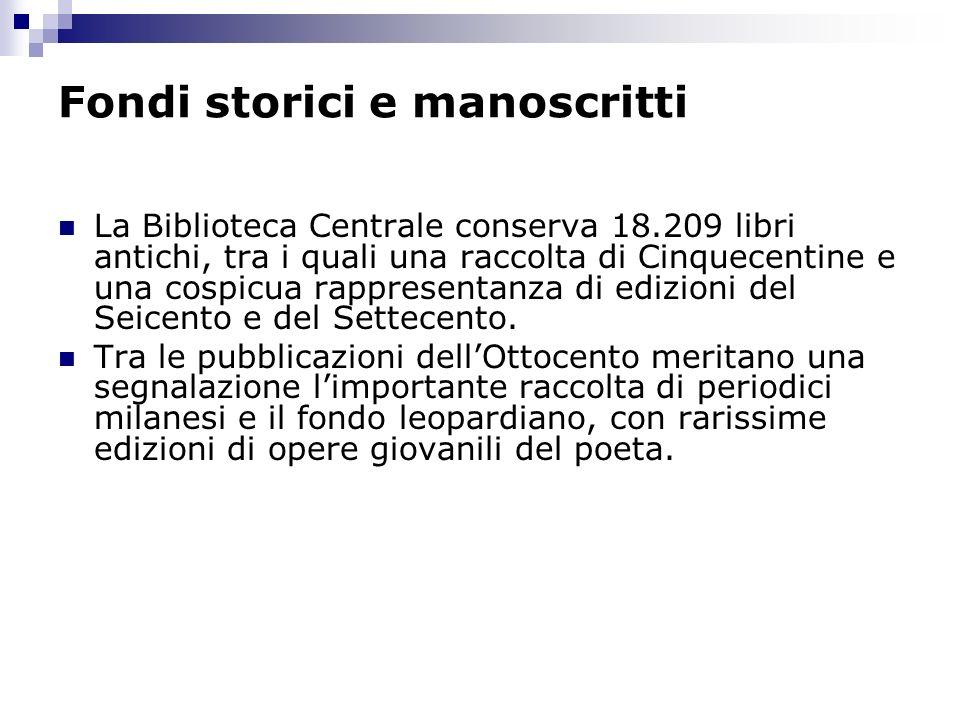 Fondi storici e manoscritti