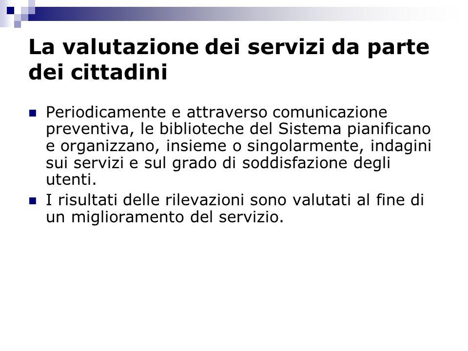 La valutazione dei servizi da parte dei cittadini
