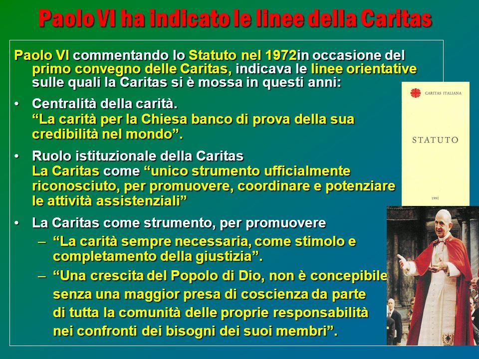 Paolo VI ha indicato le linee della Caritas