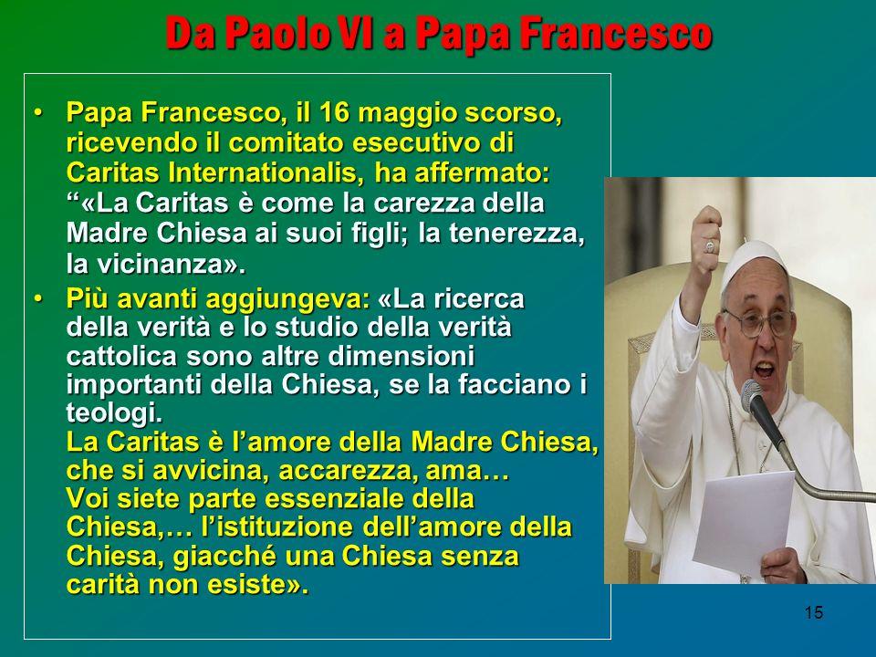 Da Paolo VI a Papa Francesco