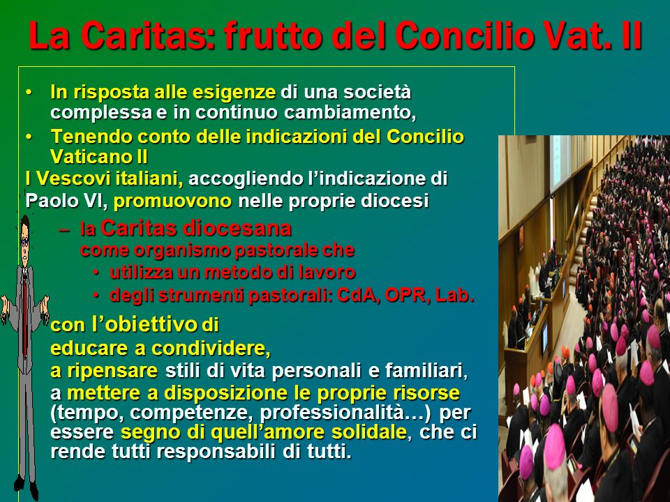 La Caritas: frutto del Concilio Vat. II