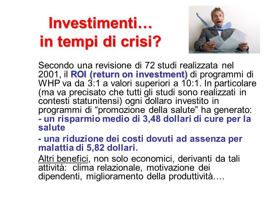 Investimenti… in tempi di crisi