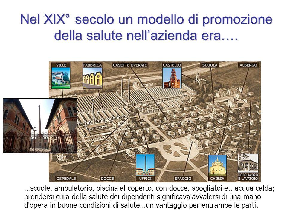 Nel XIX° secolo un modello di promozione della salute nell'azienda era….