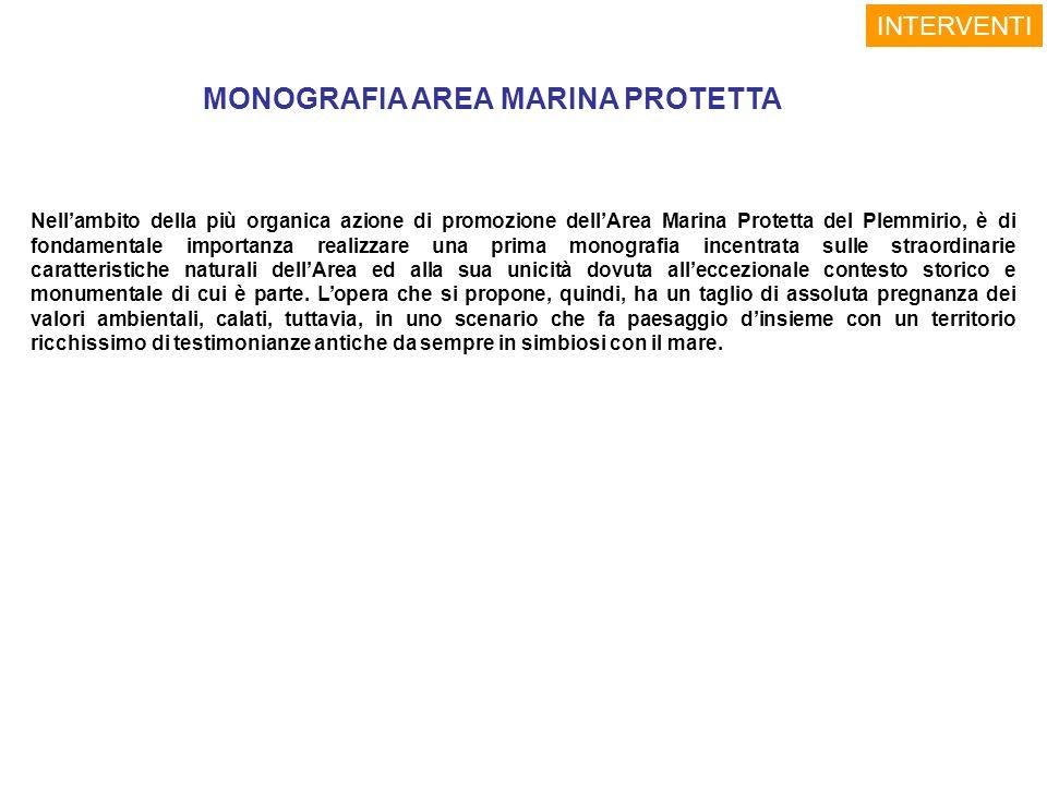 MONOGRAFIA AREA MARINA PROTETTA