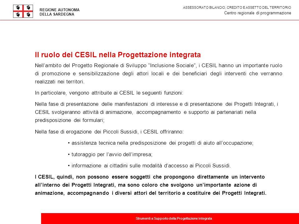 Il ruolo dei CESIL nella Progettazione integrata