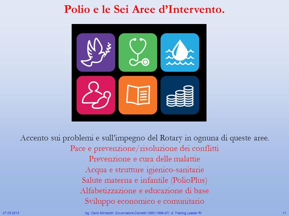 Polio e le Sei Aree d'Intervento.