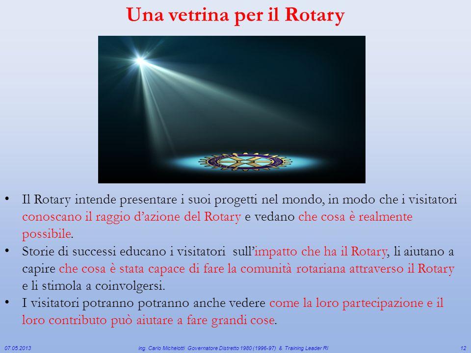Una vetrina per il Rotary