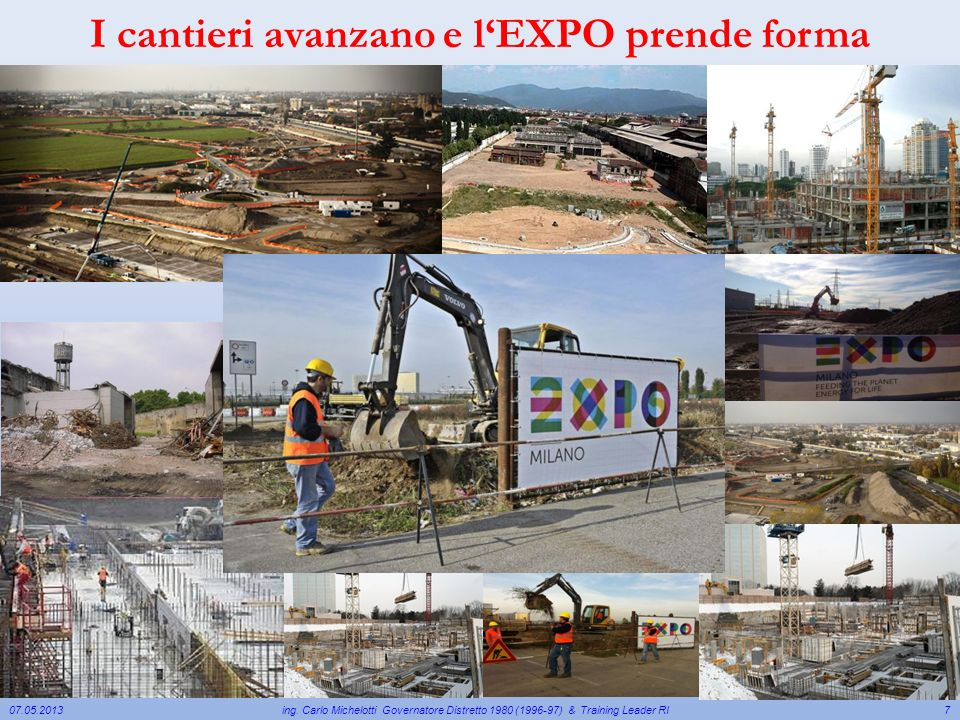 I cantieri avanzano e l'EXPO prende forma