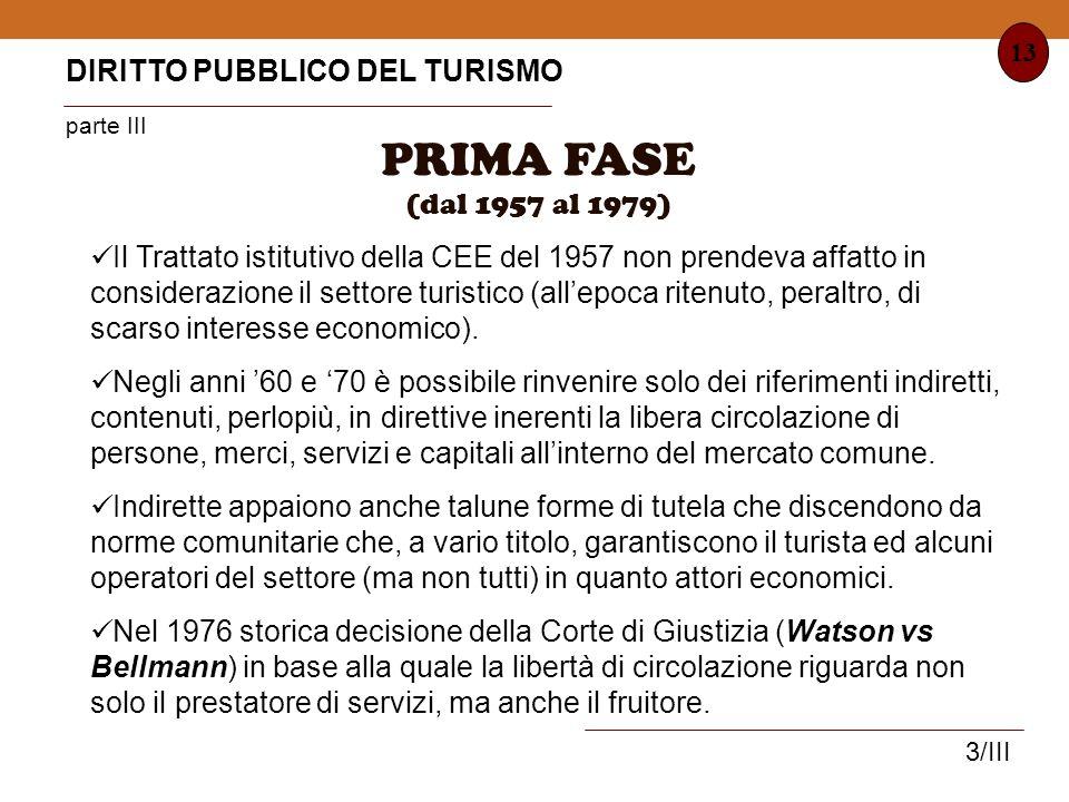 PRIMA FASE DIRITTO PUBBLICO DEL TURISMO parte III (dal 1957 al 1979)