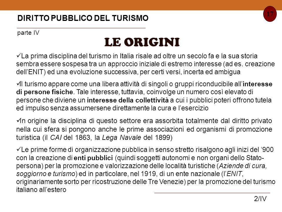 LE ORIGINI DIRITTO PUBBLICO DEL TURISMO parte IV 17