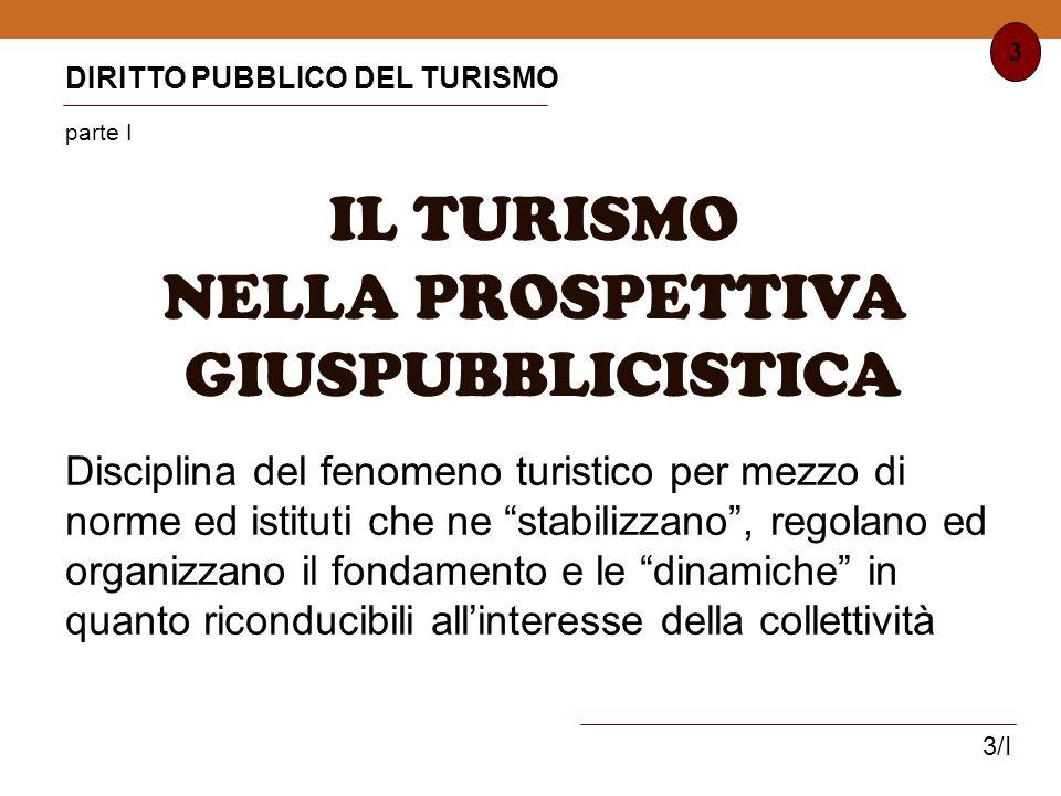 IL TURISMO NELLA PROSPETTIVA GIUSPUBBLICISTICA