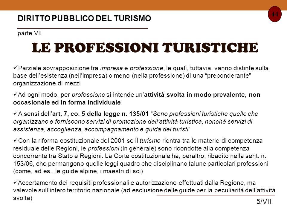 LE PROFESSIONI TURISTICHE