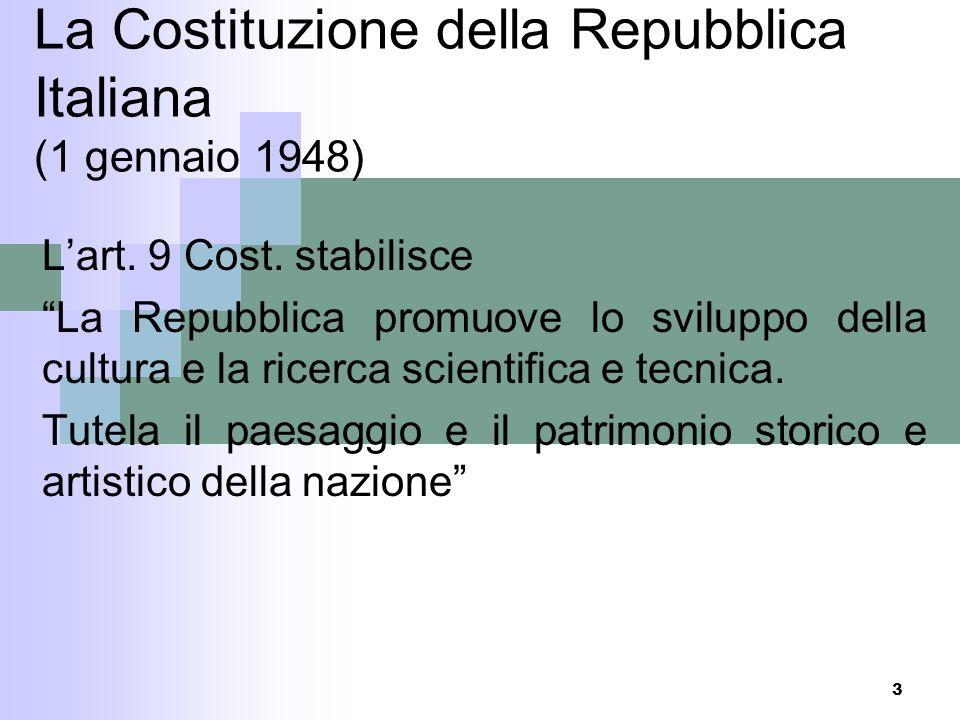 La Costituzione della Repubblica Italiana (1 gennaio 1948)