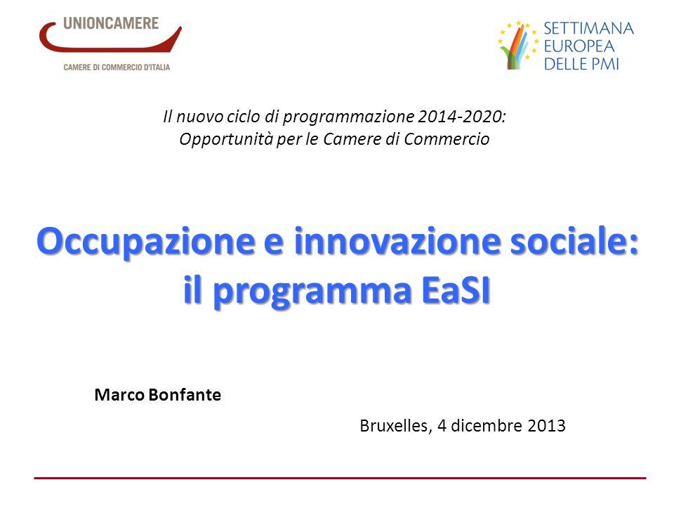 Occupazione e innovazione sociale: il programma EaSI