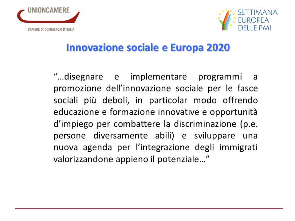 Innovazione sociale e Europa 2020