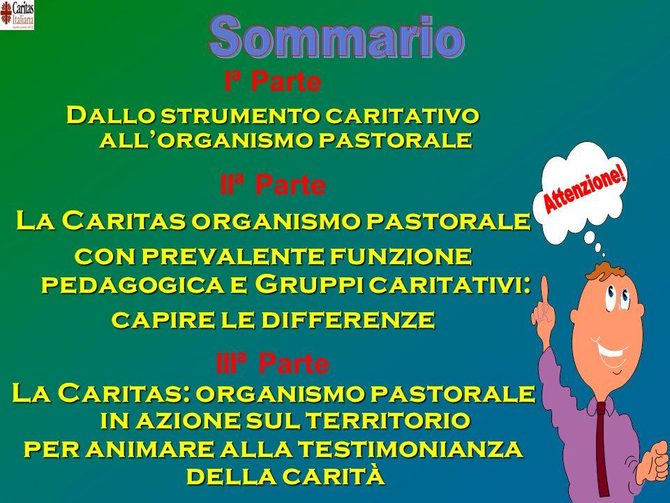 Sommario Iª Parte IIª Parte IIIª Parte La Caritas organismo pastorale