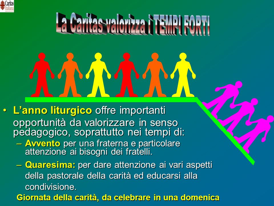 La Caritas valorizza i TEMPI FORTI
