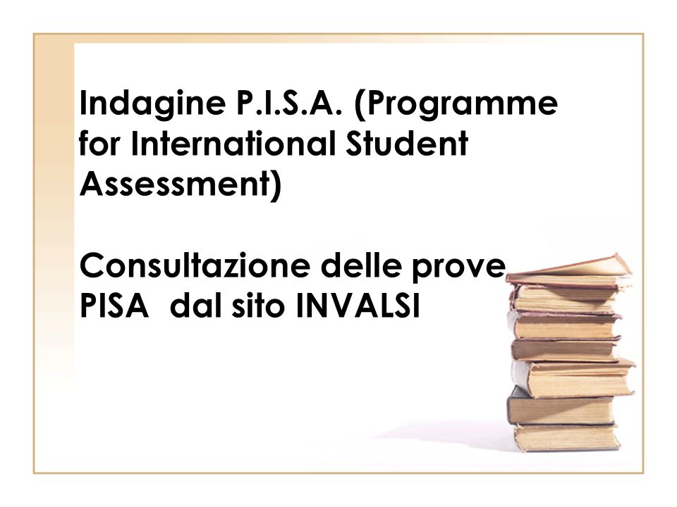 Indagine P.I.S.A. (Programme for International Student Assessment)