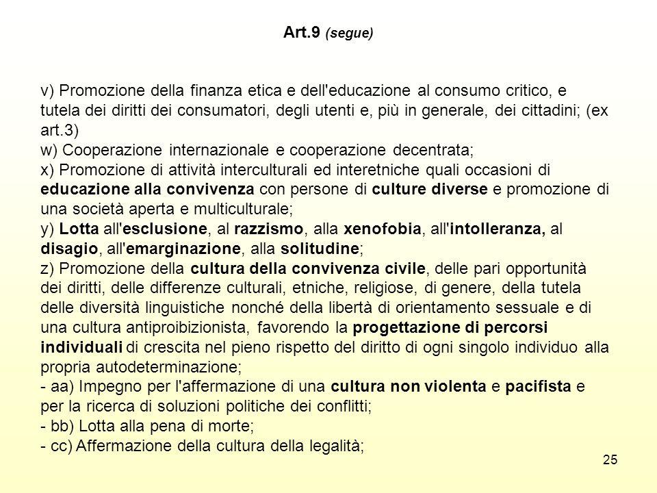 Art.9 (segue)