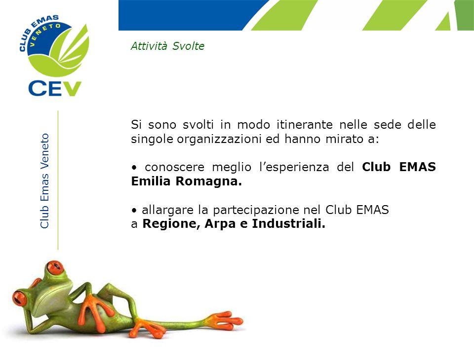 • conoscere meglio l'esperienza del Club EMAS Emilia Romagna.